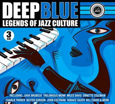 Deep Blue - Legends of Jazz Culture, 3 CDs, Diverse Interpreten