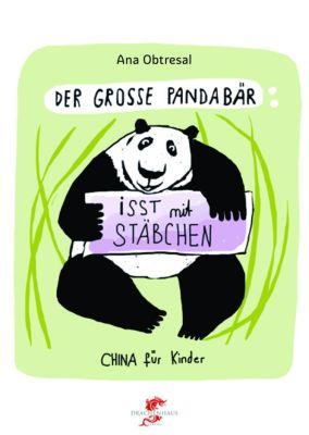Der große Panda isst mit Stäbchen, Ana Obtresal