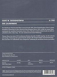 Der Zauberberg, DVD - Produktdetailbild 1