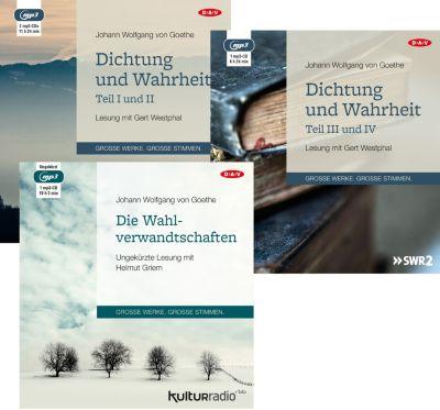 Dichtung und Wahrheit, 4 MP3-CDs, Johann W von Goethe