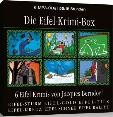 Die Eifel-Krimi-Box, 6 MP3-CDs, Jacques Berndorf