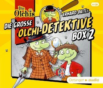 Die große Olchi-Detektive Box, 4 Audio-CDs, Barbara Iland-Olschewski, Erhard Dietl