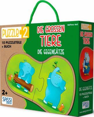 Die Grossen Tiere - Die Gegensätze (Kinderpuzzle)