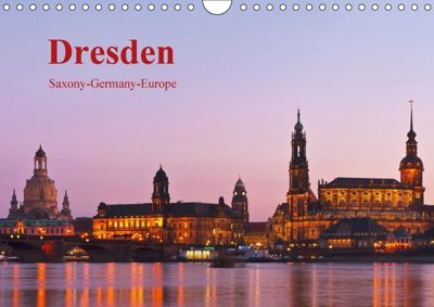 Dresden-Saxony-Germany-Europe / UK-Version (Wall Calendar 2018 DIN A4 Landscape), Gunter Kirsch