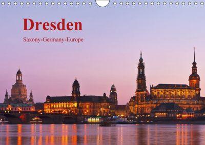 Dresden-Saxony-Germany-Europe / UK-Version (Wall Calendar 2018 DIN A4 Landscape), Gunter Kirsch