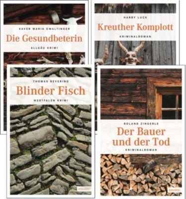 Emons Krimi Set 2, 4 Bände, Xaver Maria Gwaltinger, Harry Luck, Thomas Revering, Roland Zingerle