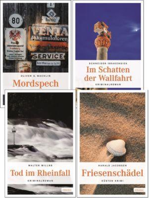 Emons Krimis Set 1, 4 Bände, Oliver G. Wachlin, Sabine Schneider, Walter Millns, Harald Jacobsen