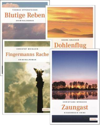 Emons Krimis Set 3, 4 Bände, Thomas Eppensteiner, Georg Gracher, Christof Weiglein, Christiane Wünsche