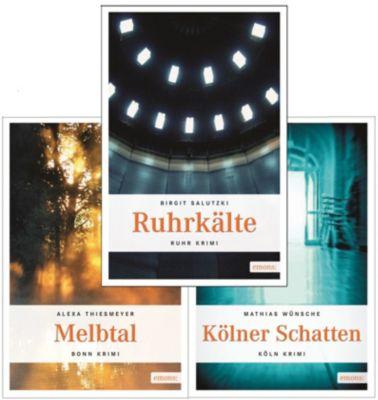 Emons Krimis Set 4, 3 Bände, Birgit Salutzki, Alexa Thiesmeyer, Mathias Wünsche