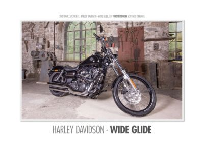 Emotionale Momente: Harley Davidson - Wide Glide. (Posterbuch DIN A2 quer), Ingo Gerlach