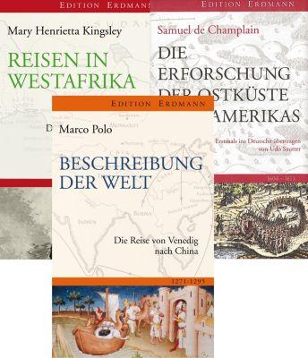 Erdmann Paket 3 Bde. Sonderausgaben, Marco Polo, Samuel de Champlain, Mary H. Kingsley