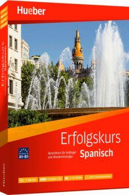 Erfolgskurs Spanisch, 2 Übungsbücher + 4 Audio-CDs + 2 CD-ROMs