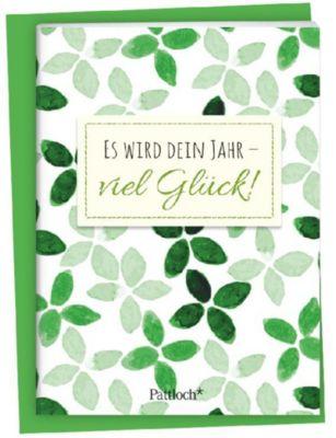 Es wird dein Jahr - viel Glück!, Spruch-Heftchen mit Kuvert