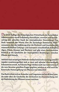 Etymologisches Wörterbuch der botanischen Pflanzennamen - Produktdetailbild 1