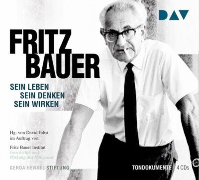 Fritz Bauer. Sein Leben, sein Denken, sein Wirken, 4 Audio-CDs, Fritz Bauer Institut