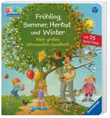 Frühling, Sommer, Herbst und Winter - Mein grosses Jahreszeiten-Spielbuch, Frauke Nahrgang