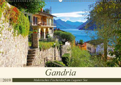 Gandria - Malerisches Fischerdorf am Luganer See (Wandkalender 2019 DIN A2 quer), k. A. LianeM