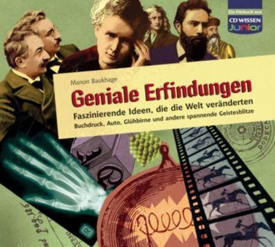 Geniale Erfindungen, 3 Audio-CDs, Manon Baukhage