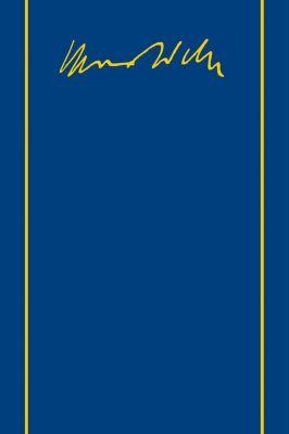 Gesamtausgabe: Bd.2/2 Briefe 1887-1894, Max Weber