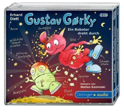 Gustav Gorky Band 2: Ein Roboter dreht durch (3 Audio-CDs), Erhard Dietl