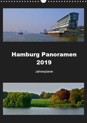 Hamburg Panoramen 2019 - Jahresplaner (Wandkalender 2019 DIN A3 hoch), Mirko Weigt