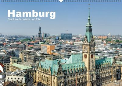 Hamburg Stadt an der Alster und Elbe (Wandkalender 2018 DIN A2 quer), Andreas Voigt