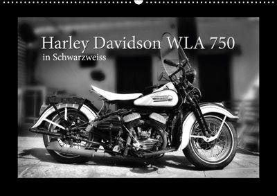 Harley Davidson WLA 750 in Schwarzweiss (Wandkalender 2018 DIN A2 quer) Dieser erfolgreiche Kalender wurde dieses Jahr m, Ingo Laue