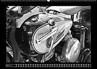 Harley Davidson WLA 750 in Schwarzweiss (Wandkalender 2018 DIN A2 quer) Dieser erfolgreiche Kalender wurde dieses Jahr m - Produktdetailbild 3