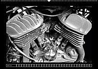 Harley Davidson WLA 750 in Schwarzweiss (Wandkalender 2018 DIN A2 quer) Dieser erfolgreiche Kalender wurde dieses Jahr m - Produktdetailbild 6