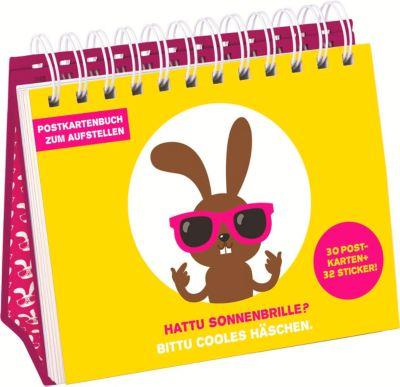 Hattu Sonnenbrille? - Postkartenbuch zum Aufstellen
