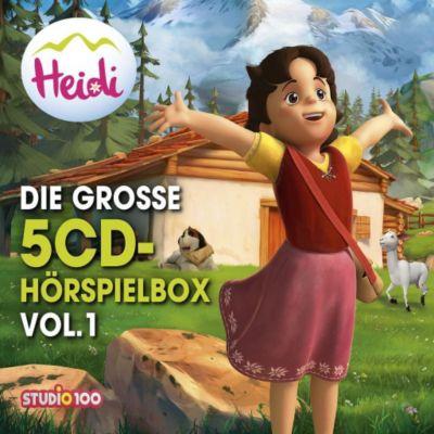 Heidi - Die große 5-CD Hörspielbox, 5 Audio-CD, Heidi