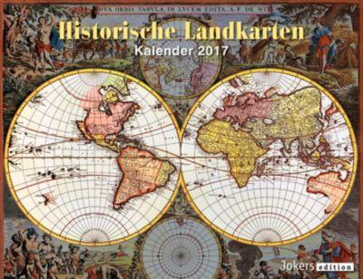 Historische Landkarten 2017, Wandkalender