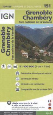 IGN Karte, Tourisme et decouverte Grenoble, Chambéry