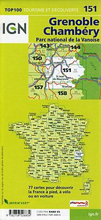 IGN Karte, Tourisme et decouverte Grenoble, Chambéry - Produktdetailbild 1