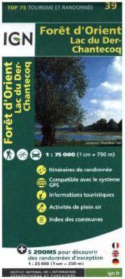 IGN Karte, Tourisme et Randonnée Foret d'Orient - Lac du Der