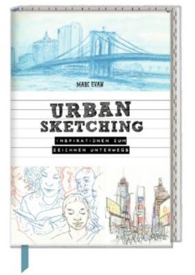 Inspirations- und Skizzenbuch mit Sammeltasche - Urban Sketching