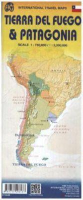 International Travel Map ITM Patagonia & Tierra Del Fuego