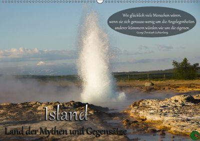 Island - Land der Mythen und Gegensätze (Wandkalender 2018 DIN A2 quer), Alexandra Burdis