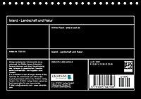 Island - Landschaft und Natur (Tischkalender 2018 DIN A5 quer) - Produktdetailbild 13