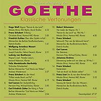 Johann Wolfgang von Goethe - Klassische Vertonungen, CD - Produktdetailbild 1
