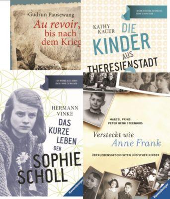 Jugendbücher über die Zeit des Zweiten Weltkrieges, 4 Bände, Marcel Prins, Peter Henk Steenhuis, Hermann Vinke, Kathy Kacer, Gudrun Pausewang