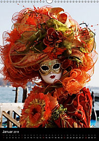 Karneval in Venedig - Phantasievolle Masken (Wandkalender 2018 DIN A3 hoch) - Produktdetailbild 1