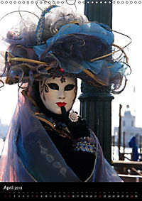 Karneval in Venedig - Phantasievolle Masken (Wandkalender 2018 DIN A3 hoch) - Produktdetailbild 4
