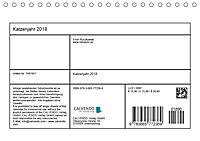 Katzenjahr 2018 (Tischkalender 2018 DIN A5 quer) - Produktdetailbild 13