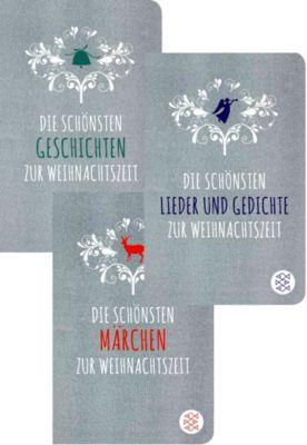 Klassiker zur Weihnachtszeit, 3 Bde., Theodor Storm, Rainer Maria Rilke, Selma Lagerlöf, Robert Gernhardt, Ludwig Thoma, Joachim Ringelnatz, ... und andere