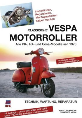Klassische Vespa Motorroller, Hans J. Schneider