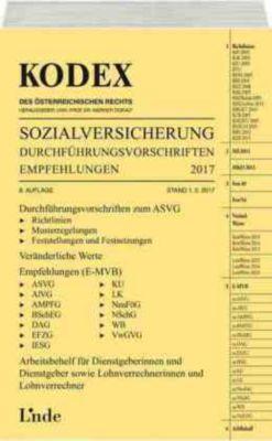 KODEX Sozialversicherung 2017 (f. Österreich), Herta Baumann, Veronika Jakobs