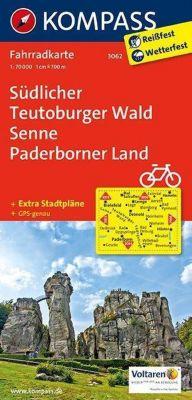Kompass Fahrradkarten: Kompass Fahrradkarte Südlicher Teutoburger Wald, Senne, Paderborner Land