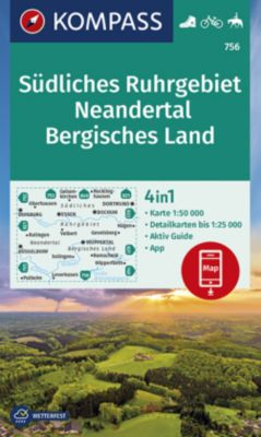 Kompass Karte Südliches Ruhrgebiet, Neandertal, Bergisches Land