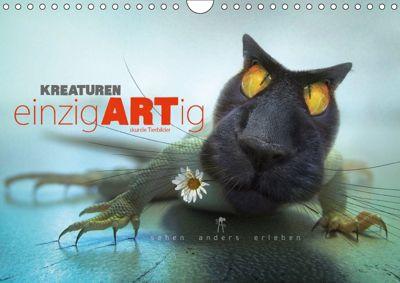 Kreaturen einzigARTig - skurrile Tierbilder (Wandkalender 2018 DIN A4 quer), Frank Melech